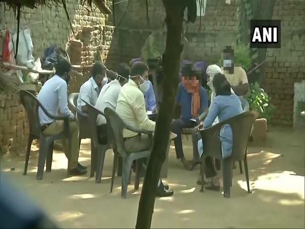The SIT on Sunday recorded the statement of the family members of the Hathras victim. (Photo/ANI)