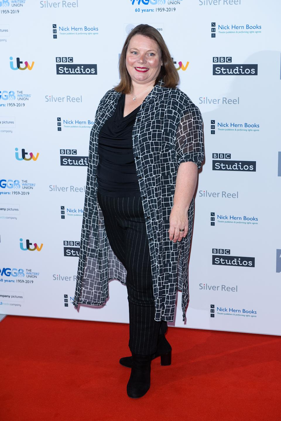 Joanna Scanlan attends the Writers' Guild Awards 2019 held at Royal College Of Physicians on January 14, 2019 in London, England. (Photo by Joe Maher/WireImage)