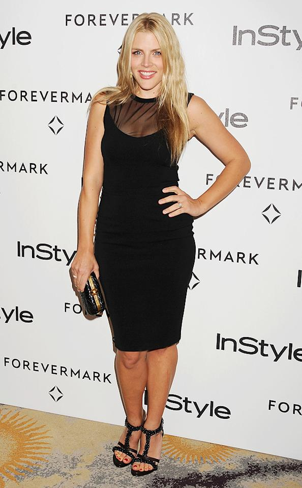 """""""Cougar Town"""" star Busy Philipps struck a pose in a little black dress. (1/10/2012)"""