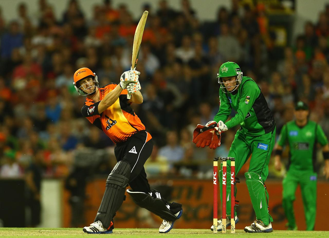PERTH, AUSTRALIA - JANUARY 16: Adam Voges of the Perth Scorchers bats during the Big Bash League semi-final match between the Perth Scorchers and the Melbourne Stars at the WACA on January 16, 2013 in Perth, Australia.  (Photo by Robert Cianflone/Getty Images)