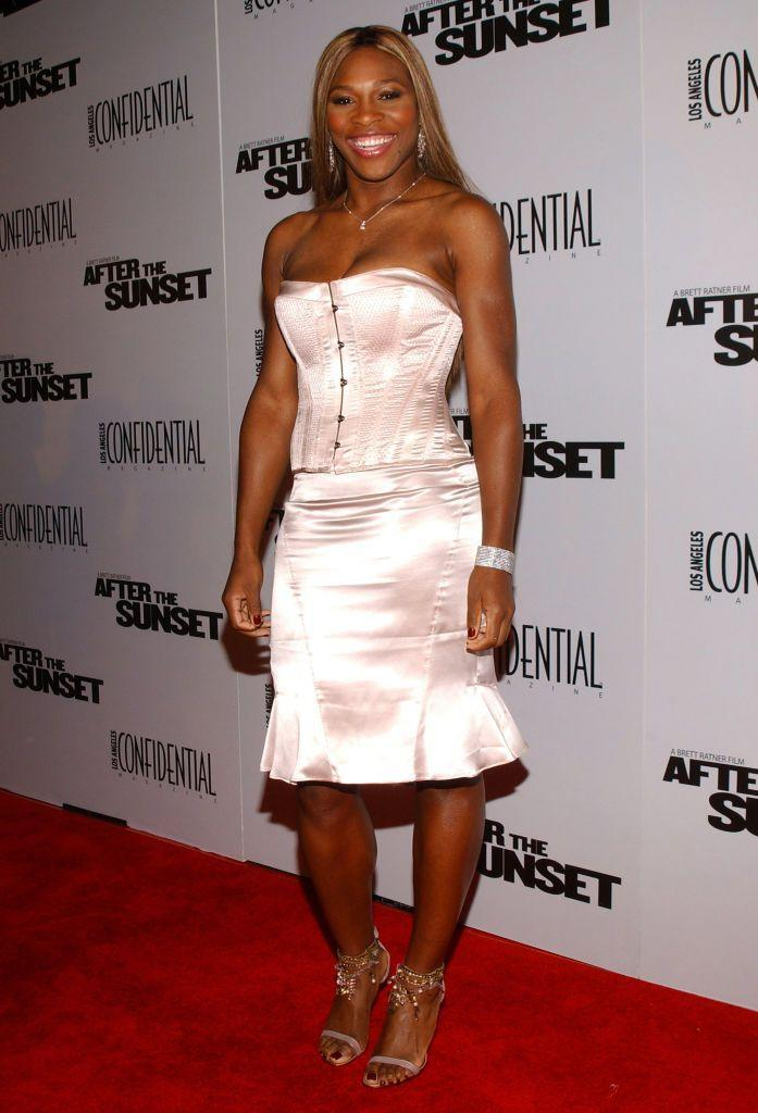 <p>Williams paired a blush pink corset with fishtail wiggle skirt. </p>