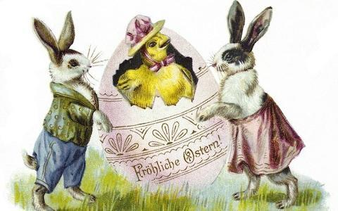 A German Happy Easter postcard from 1903