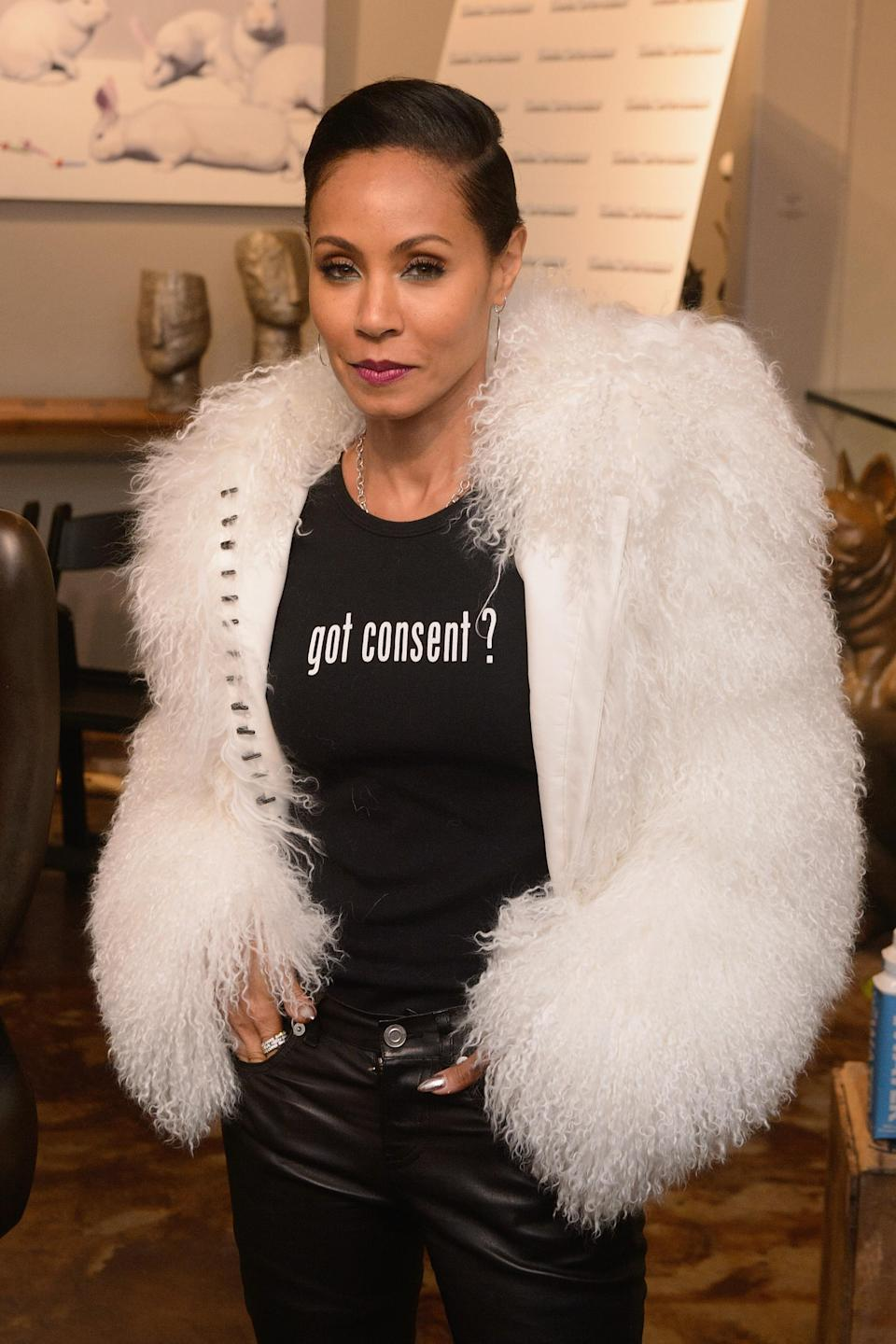 Jada Pinkett Smith at an event for the Will and Jada Smith Family Foundation in January. (Photo: Getty Images)