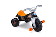 "<p><strong>Fisher-Price</strong></p><p>amazon.com</p><p><strong>$50.51</strong></p><p><a href=""https://www.amazon.com/dp/B004UU9ZB6?tag=syn-yahoo-20&ascsubtag=%5Bartid%7C10055.g.34507465%5Bsrc%7Cyahoo-us"" rel=""nofollow noopener"" target=""_blank"" data-ylk=""slk:Shop Now"" class=""link rapid-noclick-resp"">Shop Now</a></p><p>Another low-riding option,<strong> the Fisher-Price Harley Davidson Tough Trike is a fun, affordable ride for little ones. </strong>It features a ""secret"" compartment under the seat for storage. This pedal-powered ride is sturdy for little riders to gain balance and coordination skills. Since it cannot adjust, you may have to wait a bit for your child to fit properly on the seat and reach the pedals, and they may outgrow sooner than other adjustable trikes. </p><p><strong>Ages:</strong> 2-5 years old<strong><br>Max Weight: </strong>55 pounds</p>"