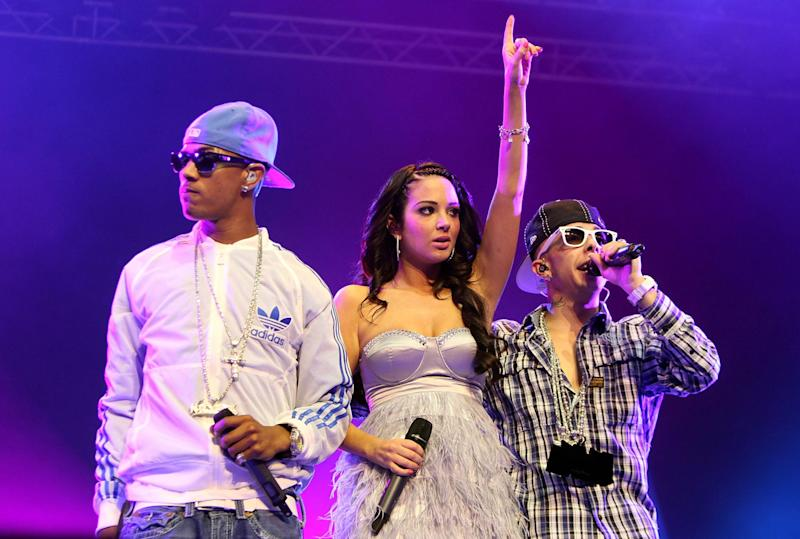 Tulisa rose to fame as part of N-Dubz alongside bandmates Fazer and Dappy (Simone Joyner/Getty Images)
