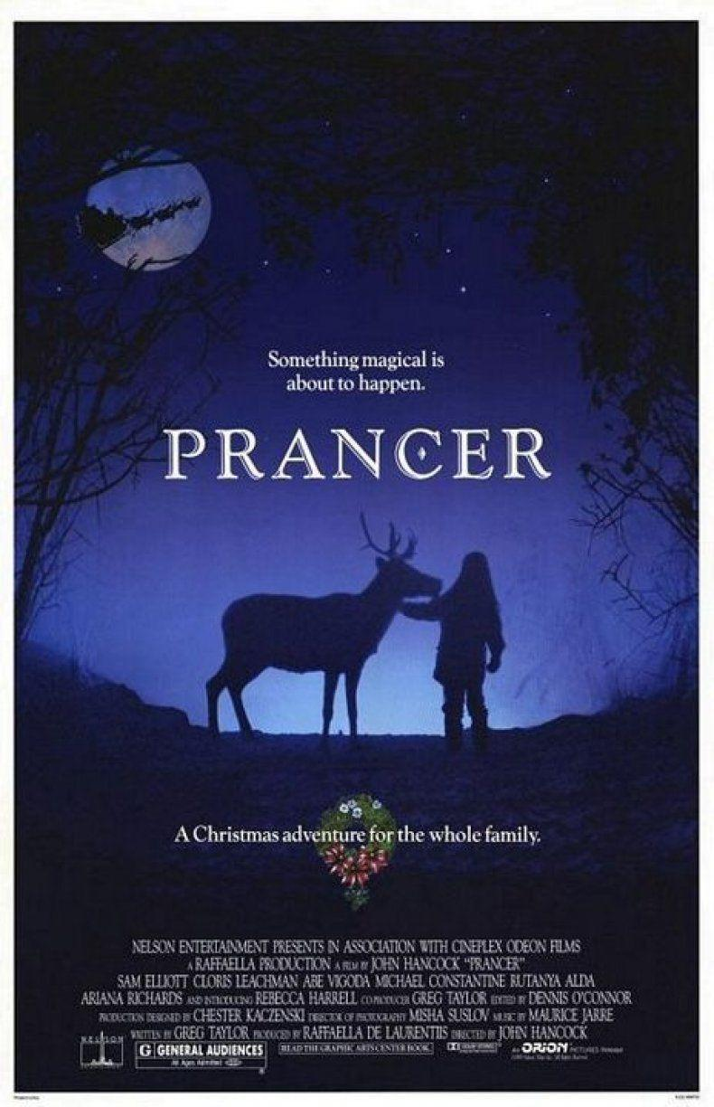 """<p>If you're in the mood for a magical fantasy drama, <em>Prancer</em> follows a little girl who finds a hurt reindeer in the woods, whom she believes to be none other than Santa's Prancer.</p><p><a class=""""link rapid-noclick-resp"""" href=""""https://www.amazon.com/Prancer-Sam-Elliott/dp/B00Q5HHKKA?tag=syn-yahoo-20&ascsubtag=%5Bartid%7C10055.g.1315%5Bsrc%7Cyahoo-us"""" rel=""""nofollow noopener"""" target=""""_blank"""" data-ylk=""""slk:WATCH NOW"""">WATCH NOW</a></p>"""