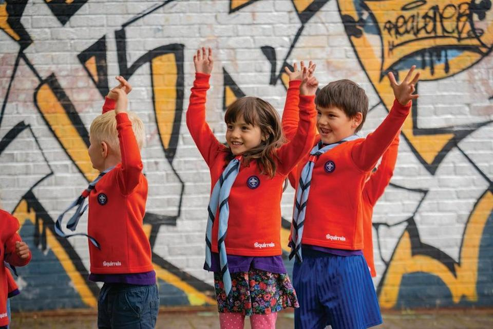 New badges that Squirrels can earn will include Feel Good, Be Active, Explore Outdoors, Brilliant Builder and Exciting Experiments. (Scouts)