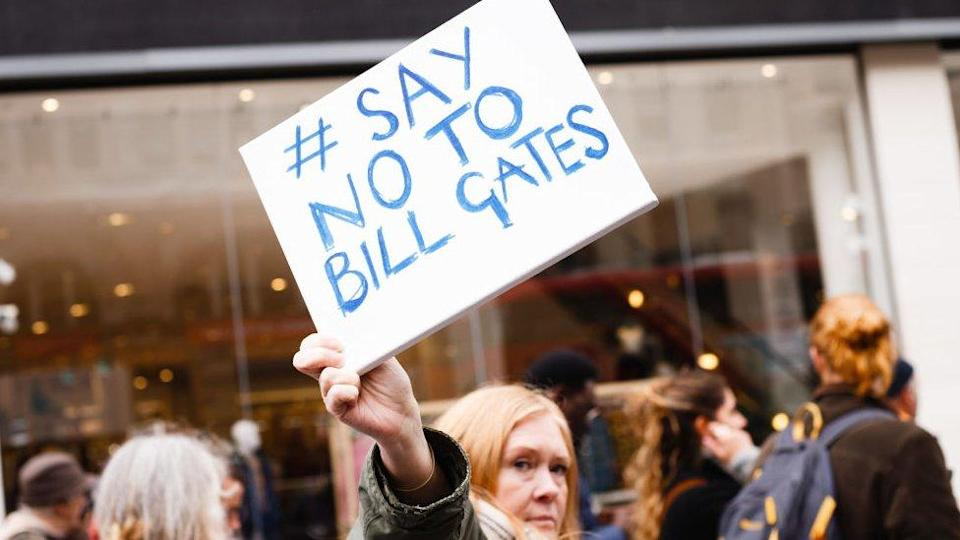 Protesto contra Bill Gates