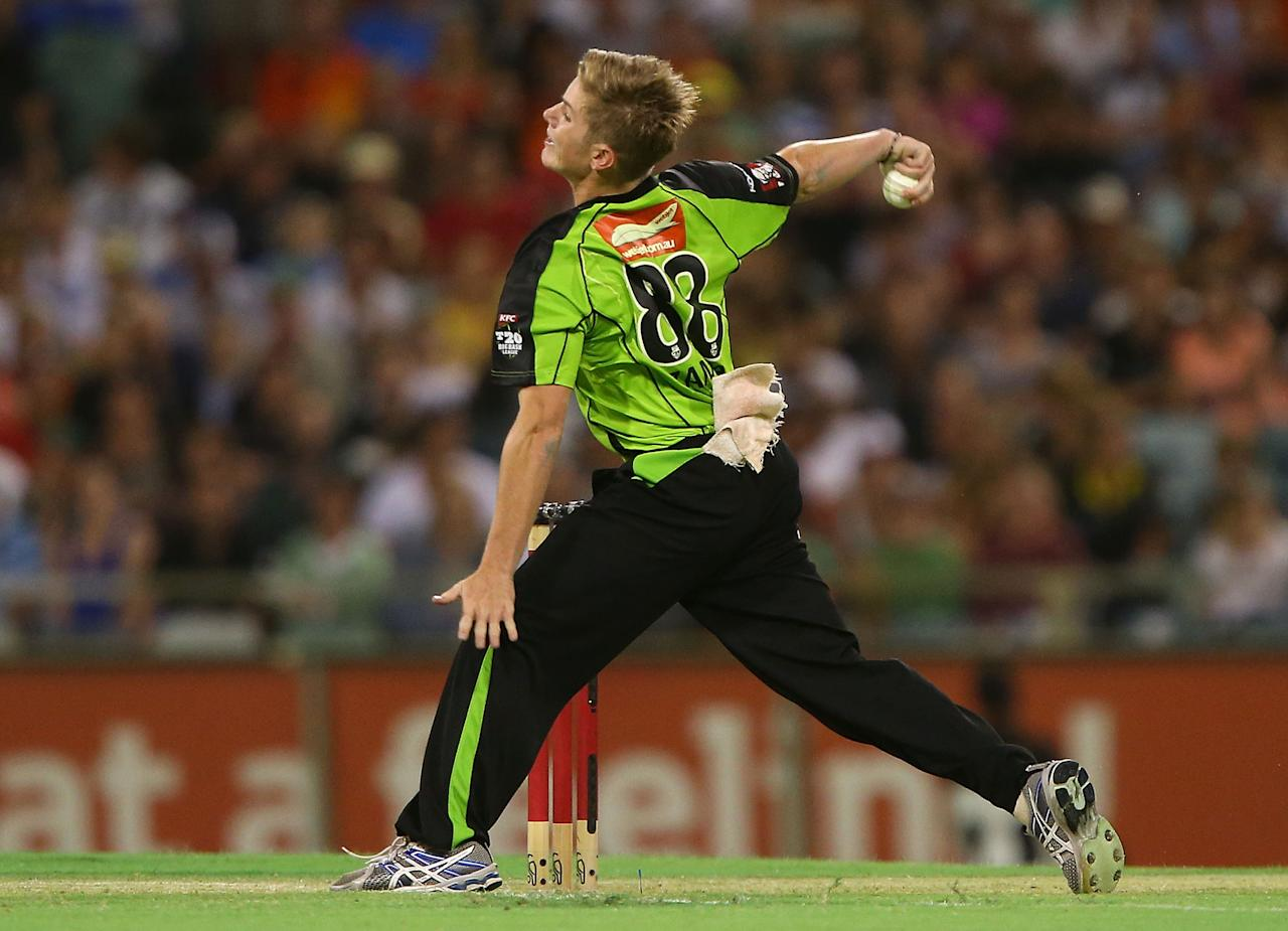 PERTH, AUSTRALIA - JANUARY 04:  Adam Zampa of the Thunder bowls during the Big Bash League match between the Perth Scorchers and the Sydney Thunder at WACA on January 4, 2013 in Perth, Australia.  (Photo by Paul Kane/Getty Images)