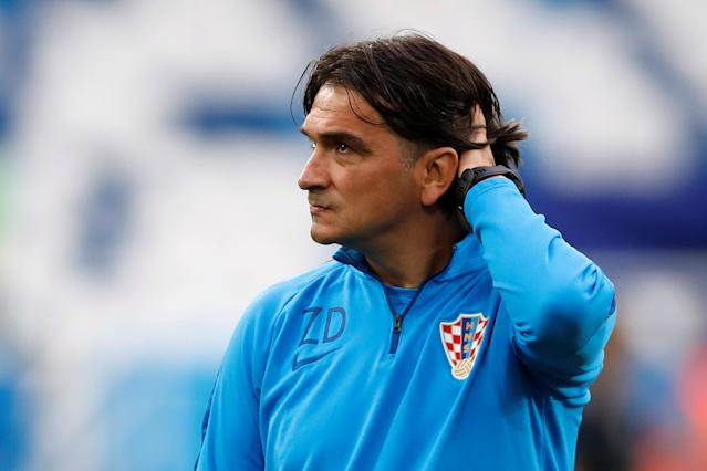 Soccer Football - World Cup - Croatia Training - Kaliningrad Stadium, Kaliningrad, Russia - June 15, 2018 Croatia coach Zlatko Dalic during training REUTERS/Matthew Childs