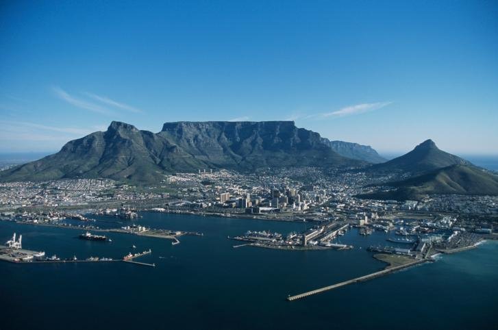 Capetown, aerial view, South Africa. Photo by Tom Brakefield/Thinkstock