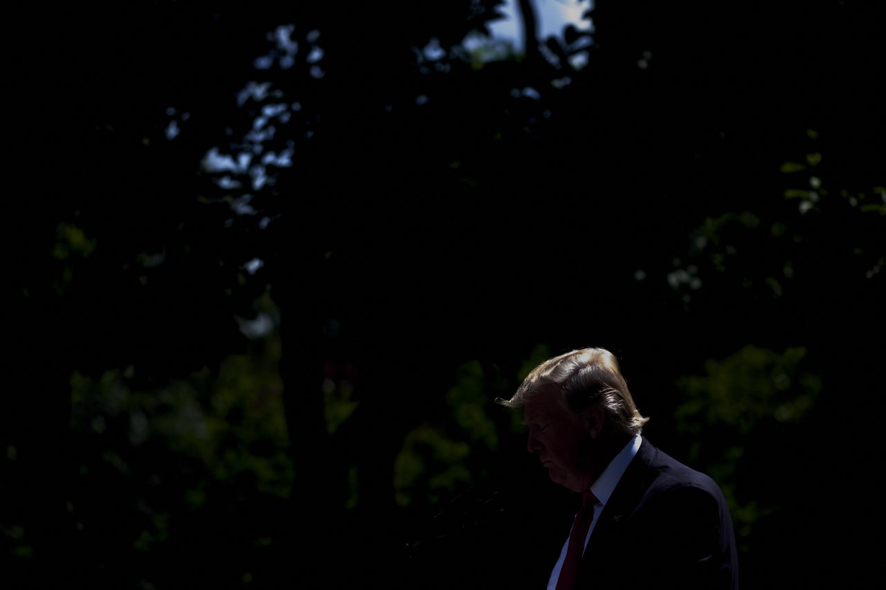 <p>President Donald Trump announces that America will pull out of the Paris climate agreement, in the Rose Garden at the White House in Washington on June 1, 2017. (Photograph by T.J. Kirkpatrick/Redux) </p>