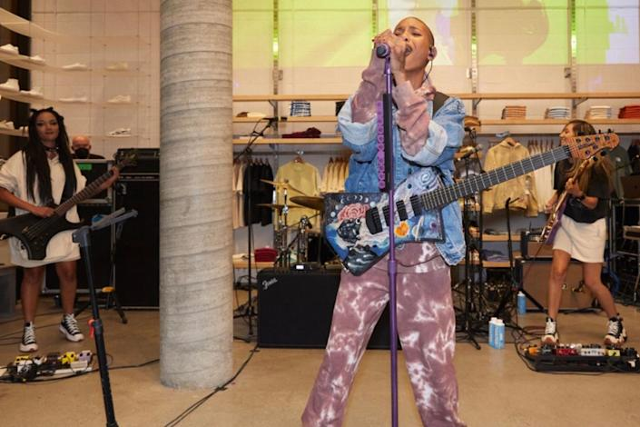 <p>Pacsun celebrates the launch of its first fully dedicated gender-<br> neutral, eco and sustainable brand, Colour Range, at the company's downtown Los Angeles flagship store on Sept. 8 with a performance by Willow Smith.</p>