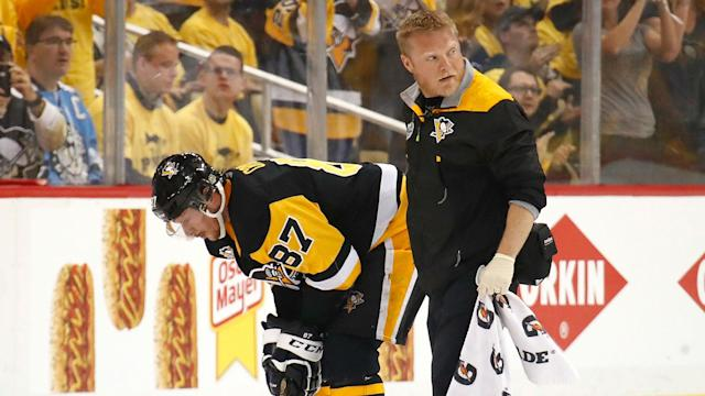 If the Penguins star's head had hit the ice instead of the boards Monday night, he could have been pulled by a concussion spotter.