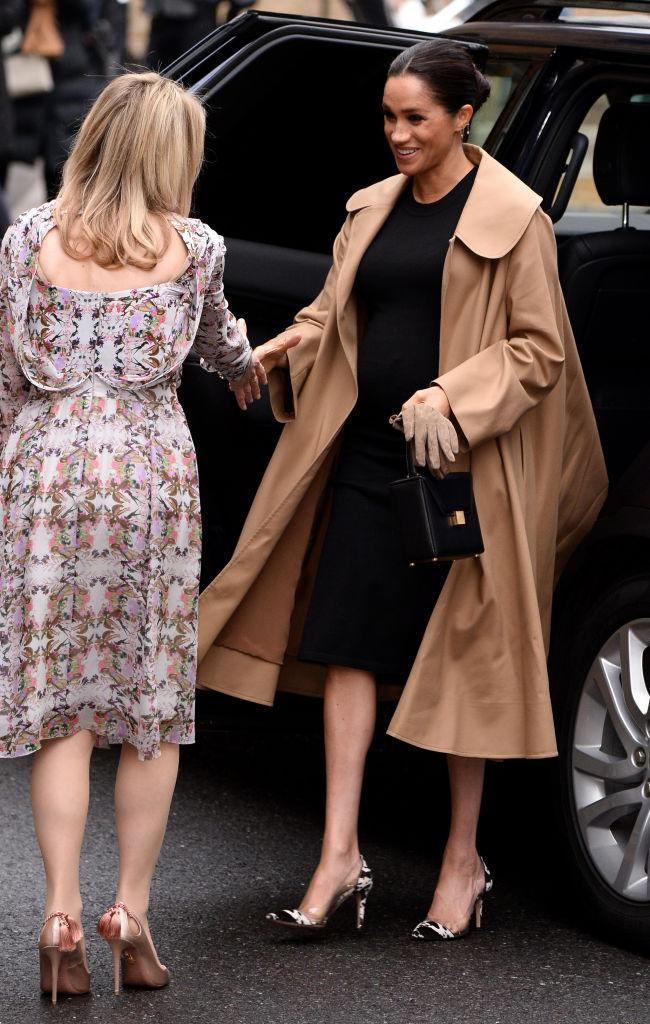 Meghan Markle, Duchess of Sussex, arrives at Smart Works on January 10, 2019 in London. (Photo: Jeff Spicer/Getty Images)