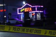 FILE PHOTO: Crime scene tape surrounds Aromatherapy Spa after deadly shootings at spas in Atlanta