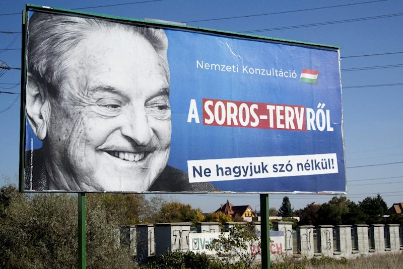 Hungary has led several major anti-Soros campaigns warning against the US billionaire's alleged plan to flood Europe with millions of migrants (AFP Photo/ATTILA KISBENEDEK)