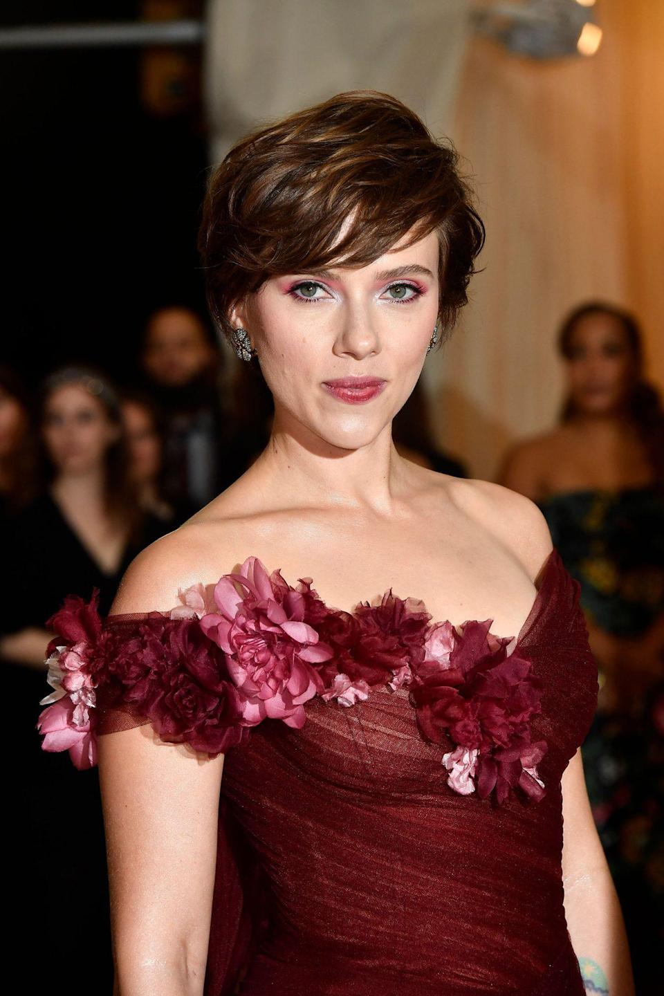 """<p>If you're looking to go short but not too short, a pixie with bangs is the perfect way to achieve face-framing short 'do. """"Bangs with a pixie is amazing and will add dramatic flare,"""" says Bergamy.</p>"""