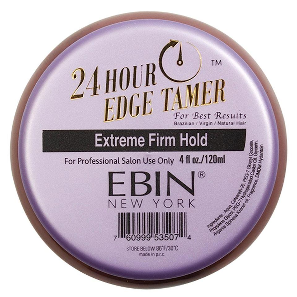 """<p>This salon-grade option did not come to play with your baby hairs. It has an incredibly strong hold and works best on Brazilian and virgin hair extensions, as well as natural hair. Forget the flakes — Ebin's 24 Hour Edge Tamer promises a hold without that pesky residue.</p> <p><strong>$7</strong> (<a href=""""https://www.amazon.com/Ebin-York-Hour-Tamer-EXTREME/dp/B018RIQ5NW"""" rel=""""nofollow noopener"""" target=""""_blank"""" data-ylk=""""slk:Shop Now"""" class=""""link rapid-noclick-resp"""">Shop Now</a>)</p>"""