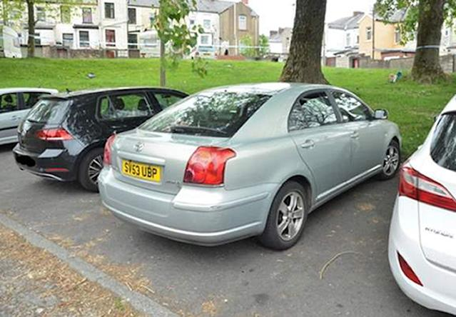 Police believe this Toyota Avensis was used in the shooting of 19-year-old Aya Hachem in Blackburn. (PA)