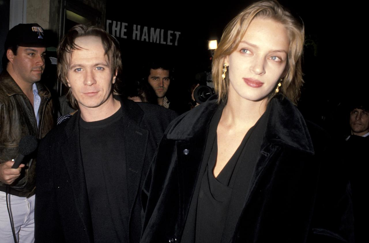 """The prestige actors said """"I do"""" to each other in 1990 but divorced two years later. Thurman went on to marry Ethan Hawke in 1998, but they divorced in 2005. Oldman, meanwhile, is currently married to his fifth partner: art curator Gisele Schmidt."""