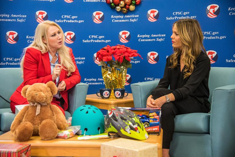 Consumer Product Safety Commission (CPSC) Commissioner Dana Baiocco and interior designer Sabrina Soto discuss ways Americans can keep their families safe this holiday season.