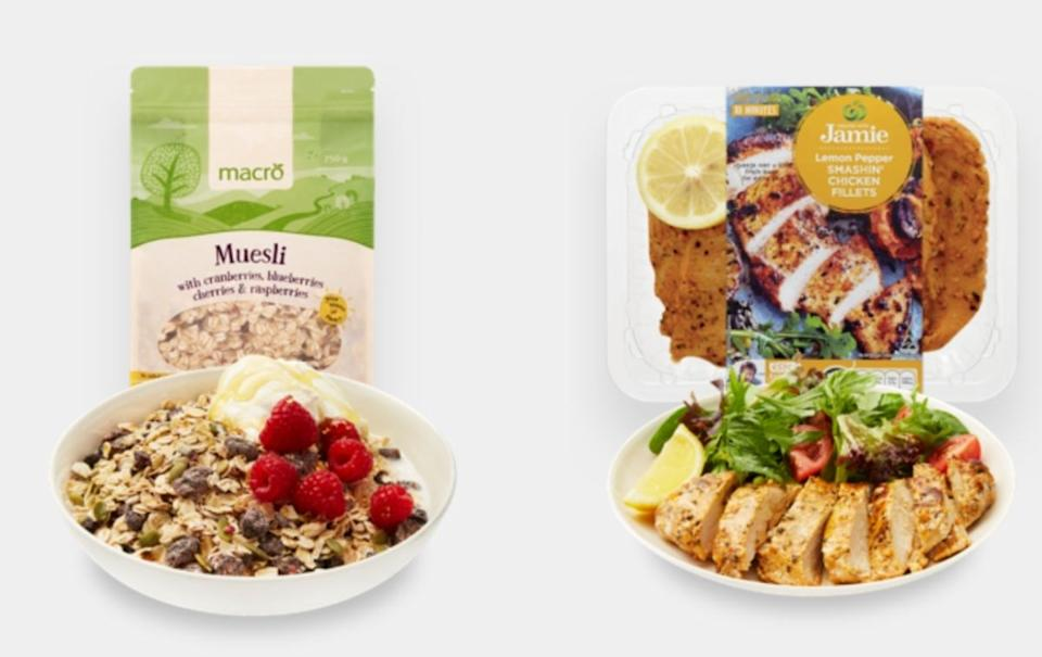 Woolworths bunch sample products