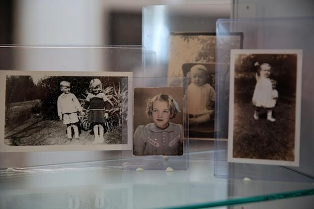 """Marilyn Monroe's childhood photos are part of """"Essentially Marilyn,"""" a free public exhibition at the Paley Center for Media in Beverly Hills. (Photo: Brian To for the Paley Center for Media)"""