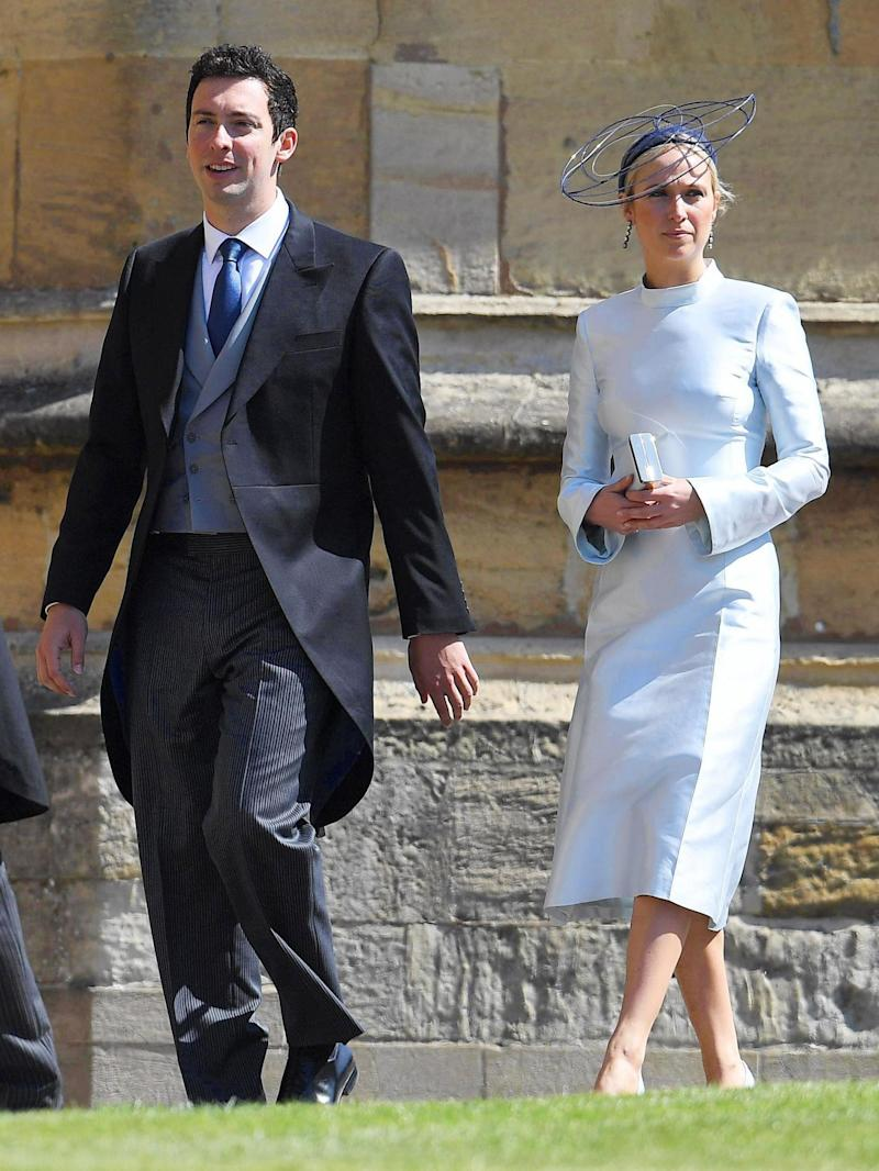 Misha Nonoo and Michael Hess at the wedding of Prince Harry and Meghan Markle (rex/shutterstock)