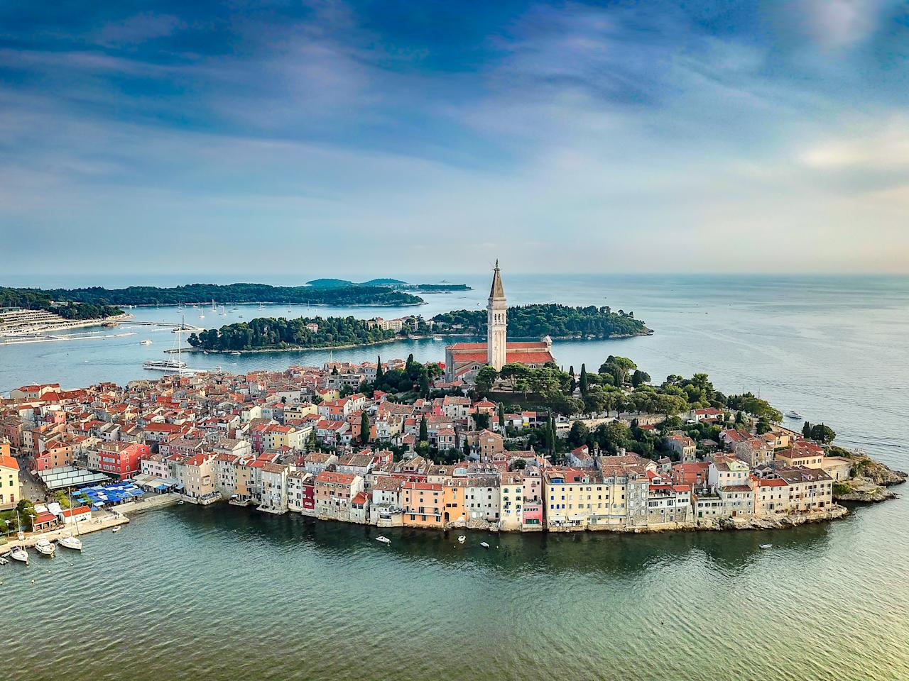 """This is a heart-shaped peninsula in the north west of Croatia, offering a pebbled beach coastline and a crowd-free setting. Stay at the<em> </em><a href=""""https://www.i-escape.com/ikador-luxury-boutique-hotel-spa""""><strong>Hotel Ikador</strong></a>, a luxurious waterside retreatwith a spa and private speedboat, for £287 a night. <em>[Photo: Getty]</em>"""