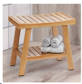 The Ivena brand 20-inch teak shower bench has been recalled. It was sold at Costco clubs and Costco.com.
