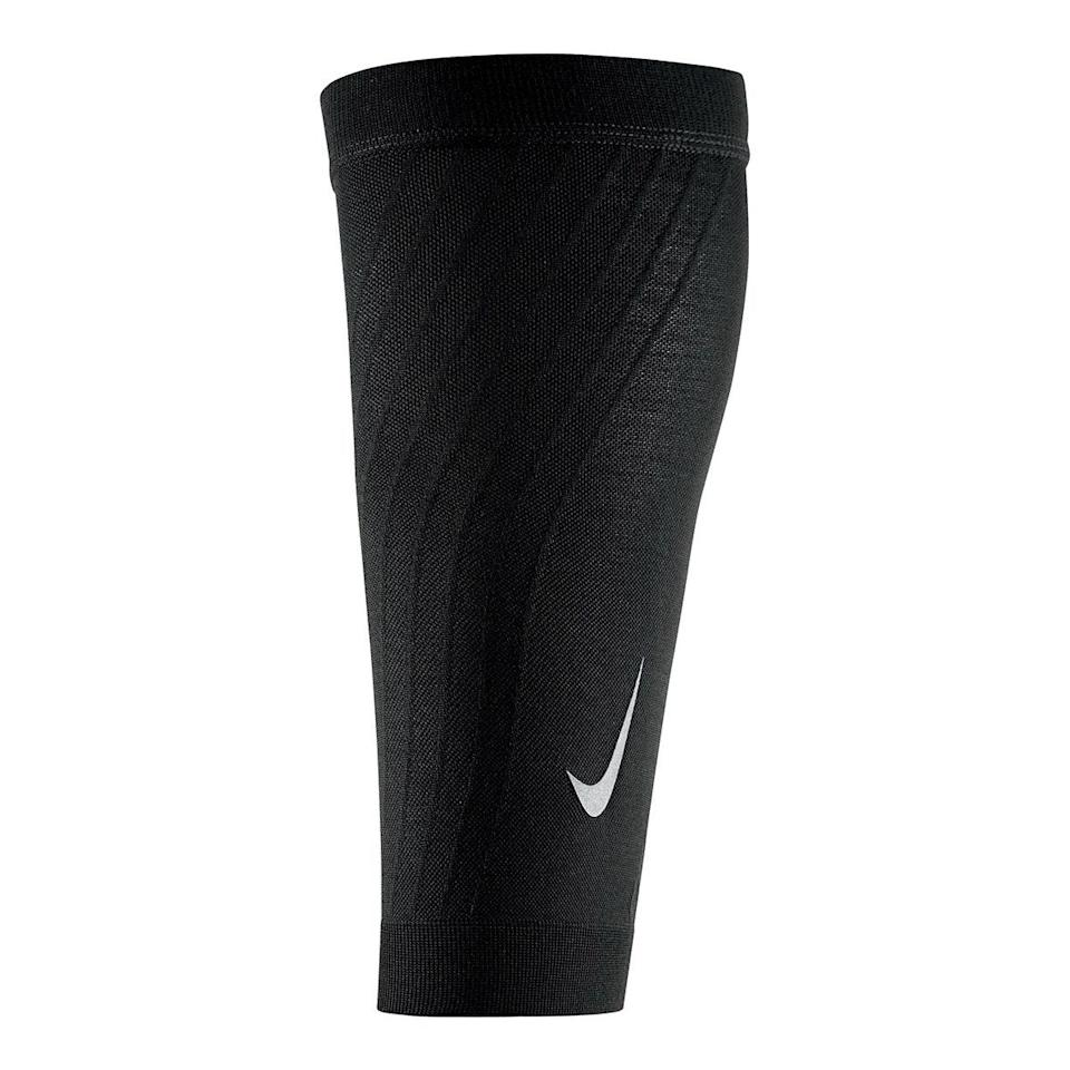 """Calf sleeves help lessen calf and leg aches and prevent varicose veins from developing in the future—but unlike compression socks, they're breathable and you can wear any sock you like with them! <em>—K.T.</em> $45, Dick's Sporting Goods. <a href=""""https://www.dickssportinggoods.com/p/nike-zoned-support-calf-sleeves-19nikazndspprtclfgaf/19nikazndspprtclfgaf"""" rel=""""nofollow noopener"""" target=""""_blank"""" data-ylk=""""slk:Get it now!"""" class=""""link rapid-noclick-resp"""">Get it now!</a>"""