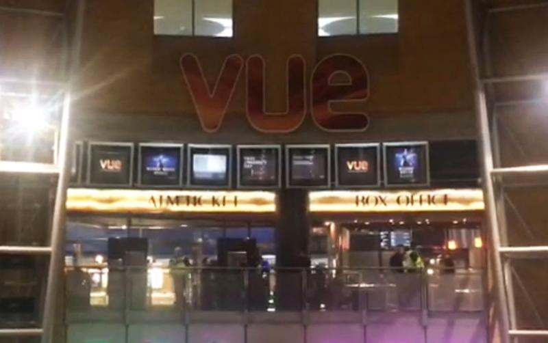 Police were called after more than 100 youths gathered at the cinema, some with machetes (Picture: Rachel Allison/PA Wire)
