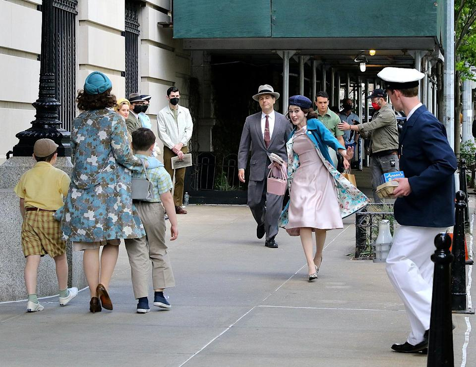 <p>The actress walked through the Upper West Side of N.Y.C. on May 17. </p>