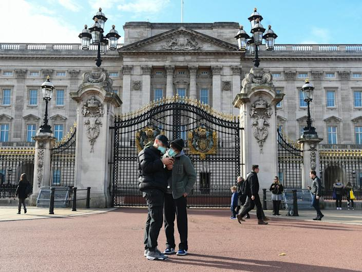 A photo of Buckingham Palace taken on October 15, 2020.