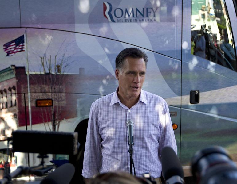 FILE - In this June 15, 2012 file photo, Republican presidential candidate, former Massachusetts Gov. Mitt Romney makes a statement on immigration, in Milford, N.H. There's not much President Barack Obama can do to boost the economy in the next five months, and that alone might cost him the November election. But on a range of social issues, Obama is bypassing Congress and aggressively using his executive powers to make it easier for gays to marry, women to obtain birth control, and, now, young illegal immigrants to avoid deportation. (AP Photo/Evan Vucci, File)