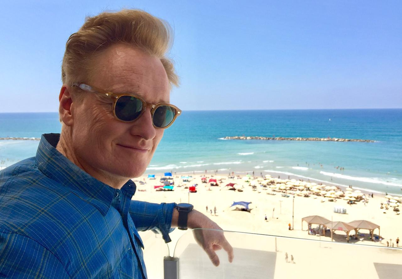 <p>Shalom #Israel. #ConanIsrael (Photo: Conan O'Brien via Twitter) </p>