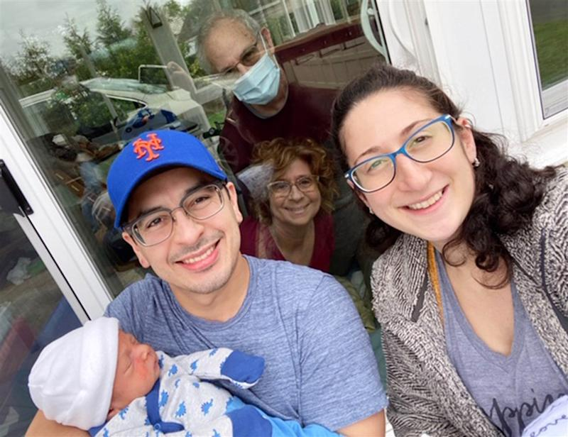 Danielle Sol, her husband Rudy and their son Jonah have visited her parents, who both tested positive for COVID-19. (Image via TODAY/Courtesy of the Sol Family).