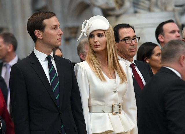 Jared Kushner and Ivanka Trump joined the tour of Westminster Abbey