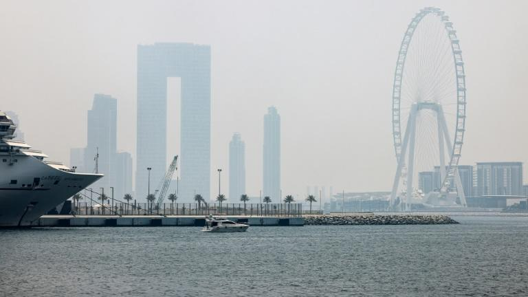 Daily temperatures in Dubai regularly top 40 degrees Celsius (104 degrees Fahrenheit) for several months of the year, and are exacerbated by high humidity (AFP/Karim SAHIB)