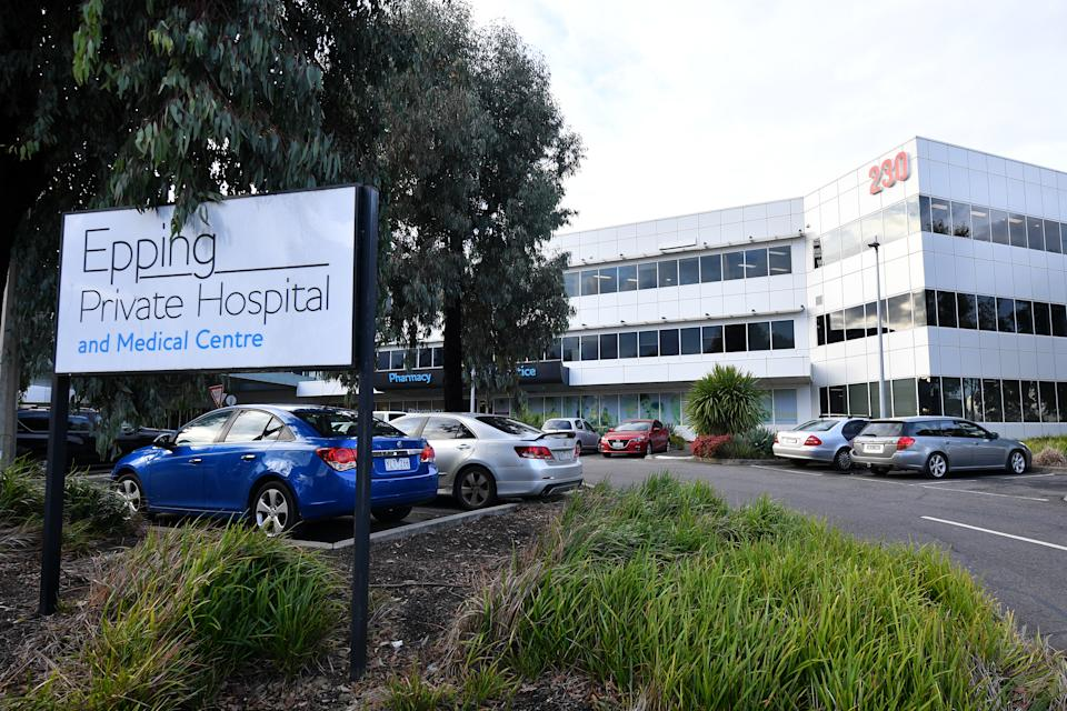 The exterior of the Epping Private Hospital. Source: AAP Image/James Ross