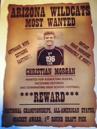 Arizona's recruiting poster for Christian Morgan — Twitter