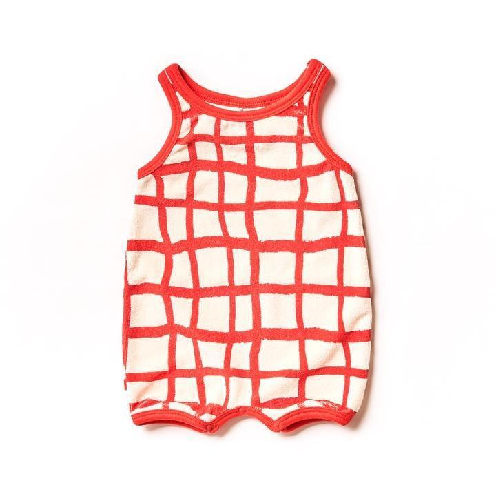 """<p>We're obsessed with the pattern on this <a href=""""https://www.popsugar.com/buy/Red-Grid-Romper-579611?p_name=Red%20Grid%20Romper&retailer=kidochicago.com&pid=579611&price=50&evar1=moms%3Aus&evar9=47528625&evar98=https%3A%2F%2Fwww.popsugar.com%2Ffamily%2Fphoto-gallery%2F47528625%2Fimage%2F47528756%2FRed-Grid-Romper&list1=kid%20shopping&prop13=mobile&pdata=1"""" rel=""""nofollow noopener"""" class=""""link rapid-noclick-resp"""" target=""""_blank"""" data-ylk=""""slk:Red Grid Romper"""">Red Grid Romper</a> ($50) that's perfect for the warmer months!</p>"""