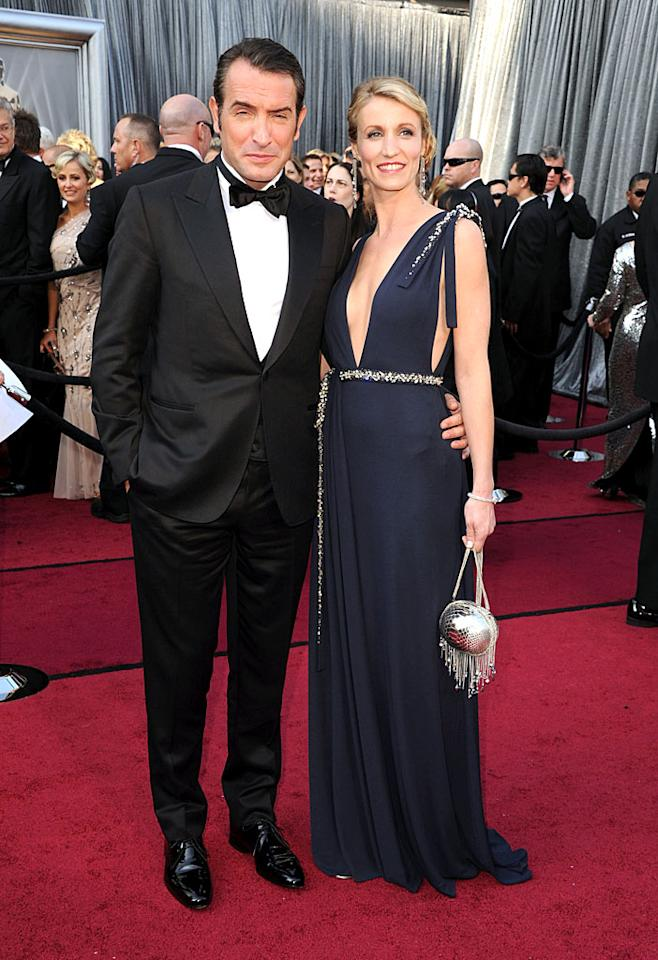 Jean Dujardin and Alexandra Lamy arrive at the 84th Annual Academy Awards in Hollywood, CA.