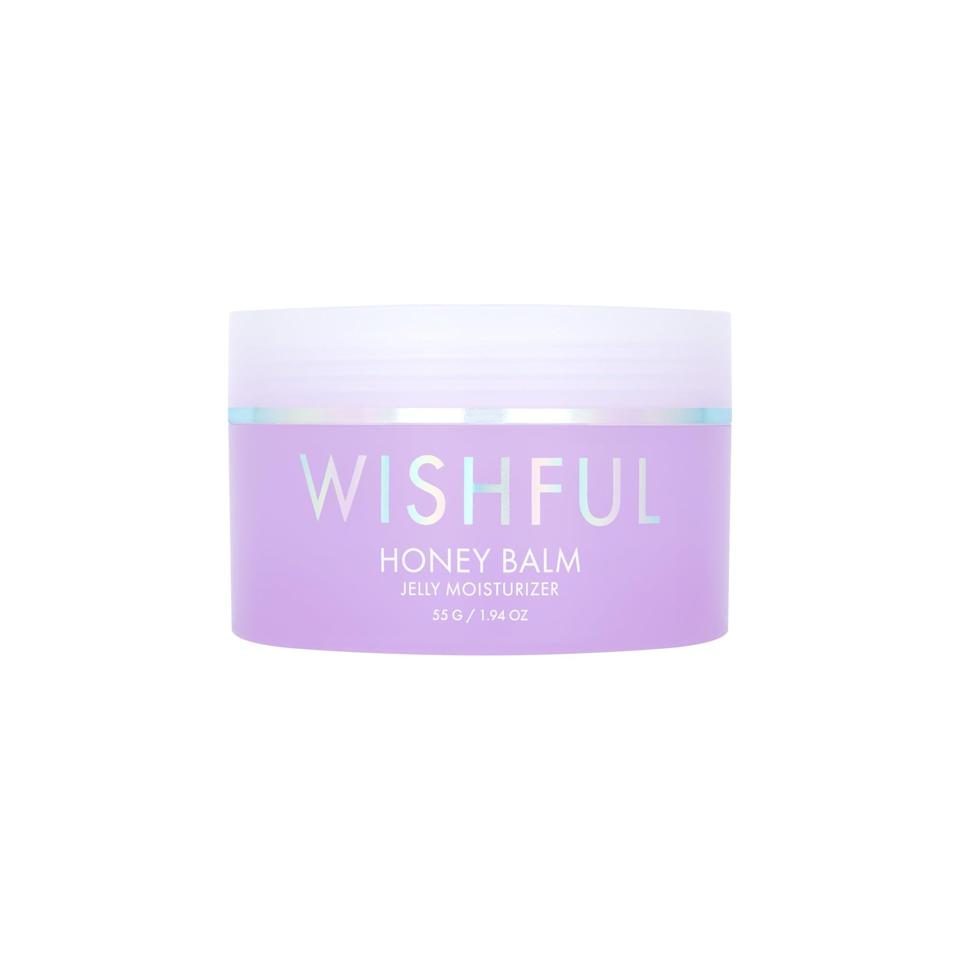 """<p>The <span>Huda Beauty Wishful Honey Balm Jelly Moisturizer</span> ($49) launches on Aug. 6 at <a href=""""https://hudabeauty.com/us/en_US/home"""" class=""""link rapid-noclick-resp"""" rel=""""nofollow noopener"""" target=""""_blank"""" data-ylk=""""slk:HudaBeauty.com"""">HudaBeauty.com</a>.</p>"""