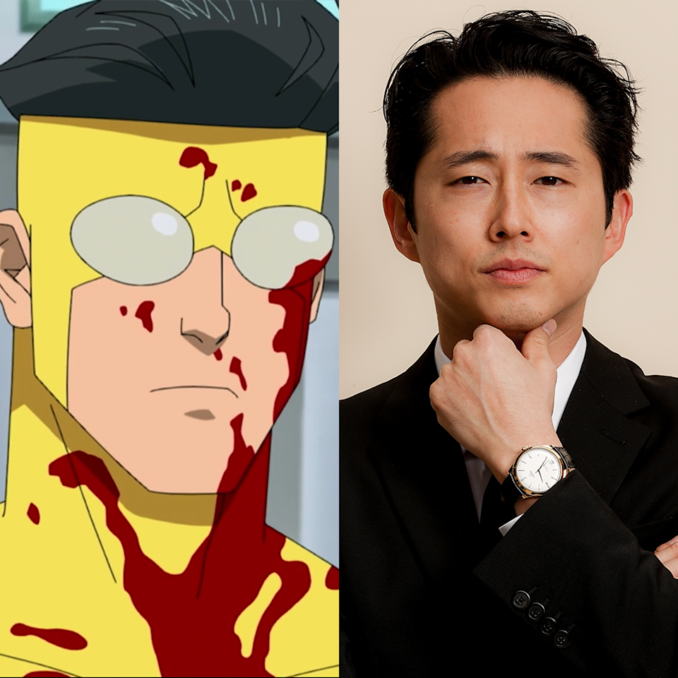 "<p>Yeun, who plays the show's main titular hero Invincible/Mark Grayson, is one of the hottest names in the industry right now, having landed an Academy Award nomination for Best Actor for his turn in 2020's excellent <em><a href=""https://www.menshealth.com/entertainment/a35633012/how-to-watch-minari/"" rel=""nofollow noopener"" target=""_blank"" data-ylk=""slk:Minari"" class=""link rapid-noclick-resp"">Minari</a></em>. That's far from his first rodeo, as he's been building stardom in recent years through appearances in movies like <em>Sorry To Bother You</em>, <em>Burning</em>, and <a href=""https://www.menshealth.com/entertainment/g30852623/bong-joon-ho-movies-list/"" rel=""nofollow noopener"" target=""_blank"" data-ylk=""slk:Bong Joon-Ho"" class=""link rapid-noclick-resp"">Bong Joon-Ho</a>'s <em>Okja</em>. Invincible marks a reunion between Yeun and the show's creator Robert Kirkman; his first big role was as Glen on AMC's <em>Walking Dead</em>. He's going to appear in <a href=""https://www.menshealth.com/trending-news/a19541870/jordan-peele-get-out-horror-movie/"" rel=""nofollow noopener"" target=""_blank"" data-ylk=""slk:Jordan Peele'"" class=""link rapid-noclick-resp"">Jordan Peele'</a>s next horror movie (due out in July 2022) alongside Daniel Kaluuya and Keke Palmer, so, yeah. That will rule.</p>"