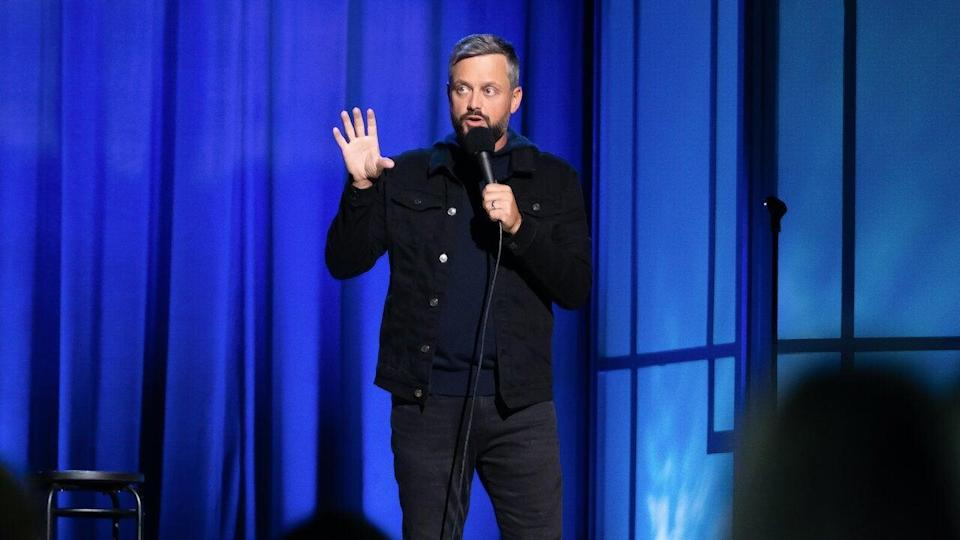 """<em><strong>Nate Bargatze: The Greatest Average American</strong></em><strong> (2021)</strong><br><br>If you need a laugh to get you through the last stretch of lockdown, look no further than <em>The Greatest Average American</em>. In his second hourlong Netflix special, Tennessee-born comedian Nate Bargatze talks through his Southern upbringing, becoming a husband and his life as a father. <br><br>Available 18th March<span class=""""copyright"""">Photo Courtesy of Netflix.</span>"""