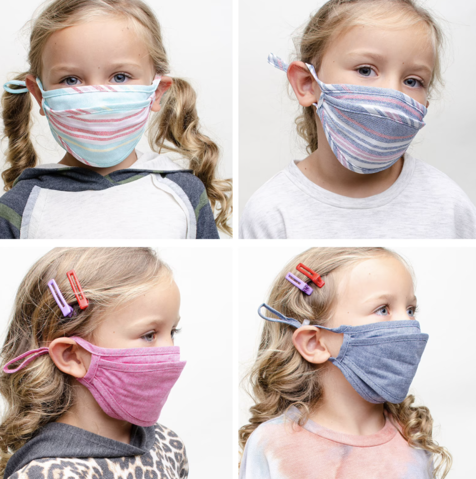 The best face masks for kids in Canada: Double Layered Cloth Face Mask (Photo via Etsy)