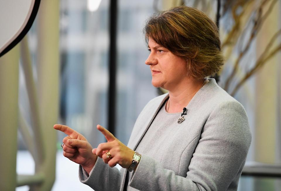 Arlene Foster, leader of the Democratic Unionist Party in Northern Ireland. Photo: Getty
