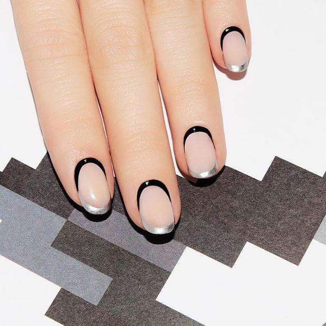 """<p>Not everybody likes over-the-top nail art, even on Halloween. To keep things basic yet glam, simply trace the bottom of your nails as well as the tips using contrasting colors.</p><p><a class=""""link rapid-noclick-resp"""" href=""""https://www.amazon.com/OPI-Designer-Nail-Lacquer-Radiance/dp/B003ZW2M5Q/ref=sr_1_3?tag=syn-yahoo-20&ascsubtag=%5Bartid%7C10055.g.1421%5Bsrc%7Cyahoo-us"""" rel=""""nofollow noopener"""" target=""""_blank"""" data-ylk=""""slk:SHOP SILVER NAIL POLISH"""">SHOP SILVER NAIL POLISH</a></p><p><a href=""""https://www.instagram.com/p/BGmH2OaRL6L/&hidecaption=true"""" rel=""""nofollow noopener"""" target=""""_blank"""" data-ylk=""""slk:See the original post on Instagram"""" class=""""link rapid-noclick-resp"""">See the original post on Instagram</a></p>"""